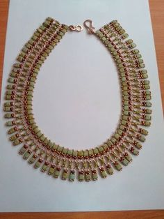 """Beaded necklace of the only one """"rulios"""""""