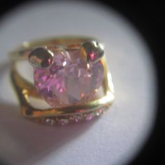 ~CUTE~ Mickey Mouse Gold & Pink Ring