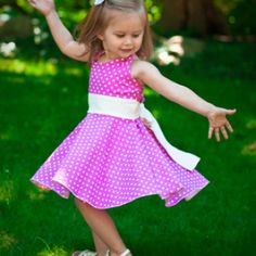 Lakeshore Halter Twirl Dress for Knits Sizes 2T-8 | YouCanMakeThis.com