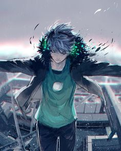 Discover recipes, home ideas, style inspiration and other ideas to try. Cool Anime Guys, Cute Anime Boy, Awesome Anime, Anime Love, Yuumei Art, Fisheye Placebo, Cyberpunk Anime, Fan Art Anime, Art Manga