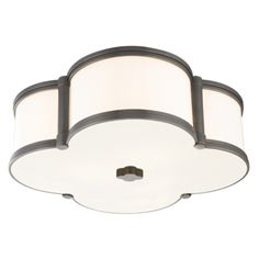The Hudson Valley HV-1216 Chandler ceiling light's inviting glow of ambient light is a welcome addition to any well-appointed space. Cast metal and custom opal glass give lasting life to this quatrefoil design.