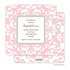 Grande Floral Ballet: Our invitations are printed on 110 lb. Matte Finish Cardstock and make a lovely presentation for your event.
