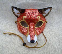 HECHO a pedido cuero máscara de zorro veneciana... Disfraces Disfraces carnaval…