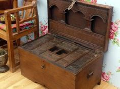 Carved Wooden Chest 762