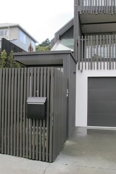 Vertical uprights could be used to screen under deck area and as balustrading from ground level to top of deck rail - note the differing widths of the battens to the deck balustrading Front Deck, Front Yard Fence, Pool Fence, House Front, Roof Cladding, Timber Battens, Timber Handrail, Wood Railing, Gardens