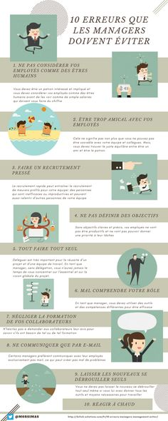 10 erreurs que les managers doivent éviter Formation Management, Leadership, Small Business Entrepreneurship, Organization And Management, Data Analytics, Human Resources, Positive Attitude, Business Planning, Teamwork