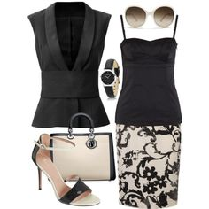 Summer Work Outfit - Day into night - perfect for work trip by rachelle710 on Polyvore #Classic design.#Casually Cool!!!#