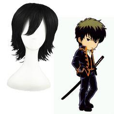 Gintama Hijikata Toushirou Black 32cm Full Cosplay Wig