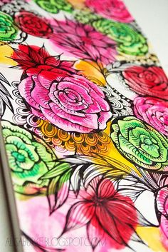 sketch flowers by mealisab