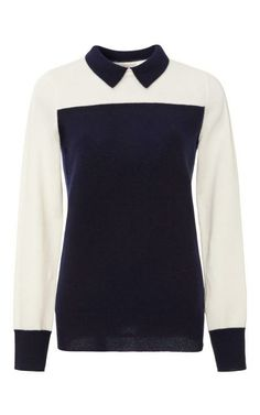 Sidney Cashmere Color-Block Sweater by Demy Lee Now Available on Moda Operandi