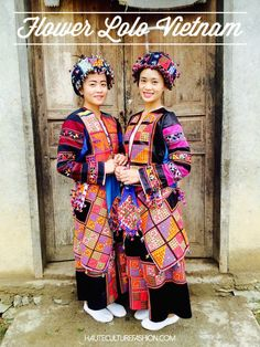 The Flower Lolo are an elaborately decorated ethnic minority people of Meo Vac, Vietnam. Their kaleidoscope costume is meticulously embellished with approximately 4000 hand appliquéd triangles resembling tetris block formations. http://hauteculturefashion.com/2015/11/23/flower-lolo-ethnic-people-vietnam/