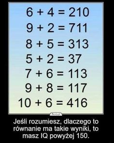 "No clue what it says but I get the math. and Put em together and BAM. it says ""If you understand this, you have more IQ"" Polish Memes, Math Questions, Everything And Nothing, Illusion, Wtf Funny, Riddles, Man Humor, Funny Images, Good To Know"