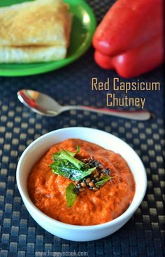 Red Capsicum Chutney Recipe