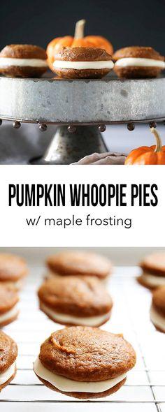 Whoopie pie, pumpkin with maple