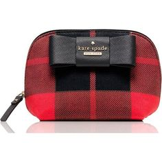 Kate Spade Julia Street Plaid Small Annabella ($68) ❤ liked on Polyvore featuring beauty products, beauty accessories, bags & cases, bags, toiletry kits, dopp bag, kate spade, travel dopp kit and travel kit