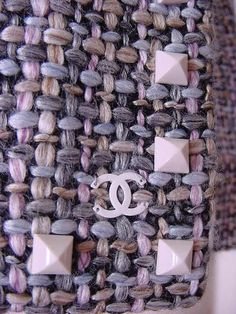 Love the chunky over-exaggerated look! chanel tweed fabric