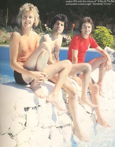 Roger Taylor, Freddie Mercury and John Deacon