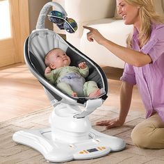 Babies love to bounce and sway, and that's what the mamaRoo does. It moves like you do. The mamaRoo is meant for babies from birth to 25 lbs (usually about 6 months), or until they start to sit up unassisted.