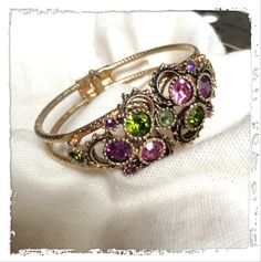 Vintage Sarah Coventry bracelet  Multicolored by SaraMarieJewelry