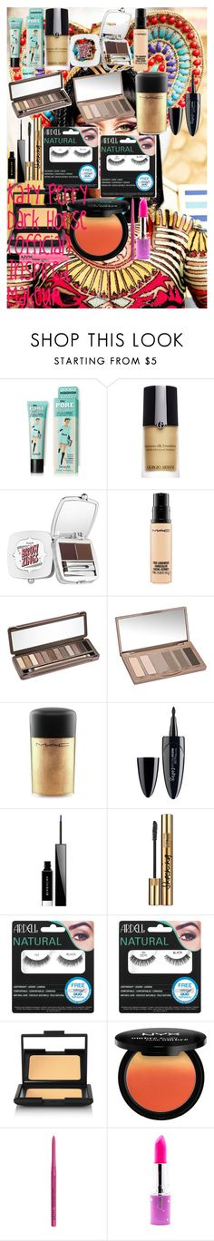 """""""Katy Perry Dark Horse (Official) Inspired Makeup"""" by oroartye-1 on Polyvore featuring beauty, Giorgio Armani, Benefit, MAC Cosmetics, Urban Decay, Maybelline, Givenchy, Yves Saint Laurent, Ardell and NARS Cosmetics"""