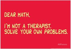 Math Solve Your Own Problems Affisch