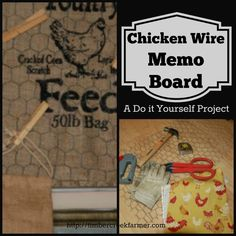 Follow my steps to make a chicken wire memo board in what ever theme you want.Easy do it yourself steps complete project in a couple hours.
