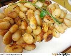 Restované gnocchi jako příloha Gnocchi, Kitchen Hacks, Shrimp, Side Dishes, Potatoes, Meat, Vegetables, Cooking, Recipes
