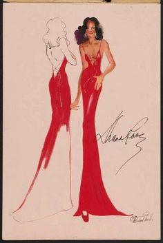 """Diana Ross """" Mahogany"""" design ."""