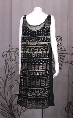 Art Deco French Assuit Dress | From a collection of rare vintage evening dresses at https://www.1stdibs.com/fashion/clothing/evening-dresses/