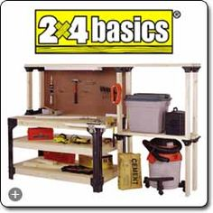 2x4basics 90164 Workbench and Shelving Storage System - - Amazon.com