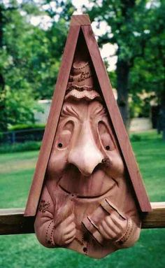 Bird Watcher-Bird Buddies Hand Carved Birdhouses