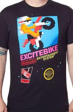 6c80965ba Cartridge Art Excitebike T-Shirt Attention Nintendo Geeks: This popular  video game is artfully