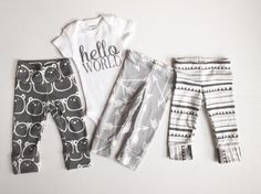 Hello World Take Home Outfit bringing by PaisleyPrintsSpokane