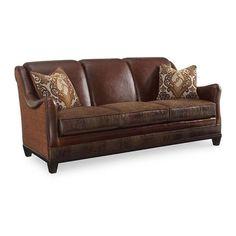 The Foundry Upholstered Farmington Sofa in Brown | Nebraska Furniture Mart