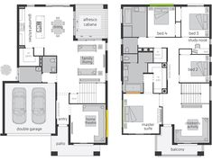 Saxonvale offers an individual accommodation & adjoining private Ensuites for all the family members. Browse through the floor plan now and enquire online. Dream House Plans, Small House Plans, House Floor Plans, Villa Design, Floor Design, House Design, Mcdonald Jones Homes, Small Villa, Bridgetown