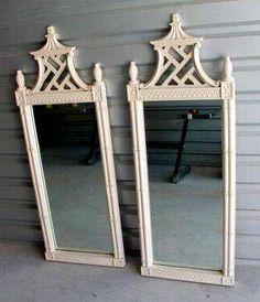 Pagoda style mirrors