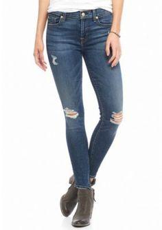 7 For All Mankind Medium Melrose Destructed Ankle Skinny Jean