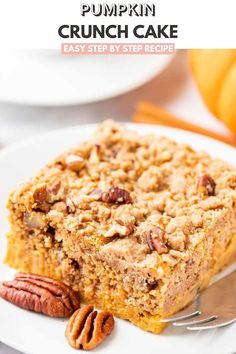 Pumpkin Crunch Cake is the perfect Thanksgiving dessert for a crowd that can be made in minutes and is a great alternative to traditional pumpkin pie. An easy sheet cake made with a delicious layer of pumpkin pie topped with a crunchy cake mix topping makes the perfect fall dessert! Pumpkin Crunch Cake, Easy Pumpkin Pie, Pecan Cake, Pumpkin Dessert, Pumpkin Recipes, Pumpkin Pumpkin, Pumpkin Cheesecake, Carrot Cake, Delicious Cake Recipes