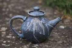 """Raku teapot """"Azure"""". Vol 1200 ml.  $120.00. Raku ceramics. Raku roasting.  Чайник """"Лазурный"""". Восстановительный обжиг раку."""