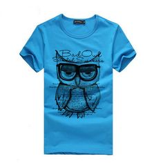 Men's Owl Loose T-Shirt