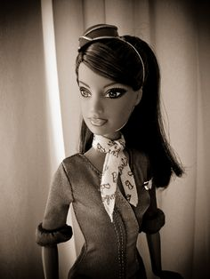 Flight Attendant Barbie...where were these when i was a kid?