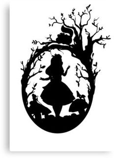 Disney canvas art silhouettes alice in wonderland Trendy Ideas Alice In Wonderland Silhouette, Alice In Wonderland Shirts, Alice In Wonderland Drawings, Wall Stickers Alice In Wonderland, Silhouettes Disney, Disney Silhouette Art, Crafts For Teens To Make, Mothers Day Shirts, Kirigami