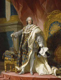 Louis XV (1710 - 1774), King of France and Navarre, in grand royal coat in 1760, Fredou Jean Martial (1710-1795), based on Van Loo Louis-Michel (1707-1771), 1763. château de Versailles © RMN