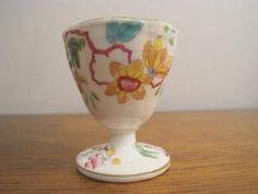 114) EARLY 19thC MINTON ENGLISH PORCELAIN N2067 PATTERN PEDESTAL EGG CUP