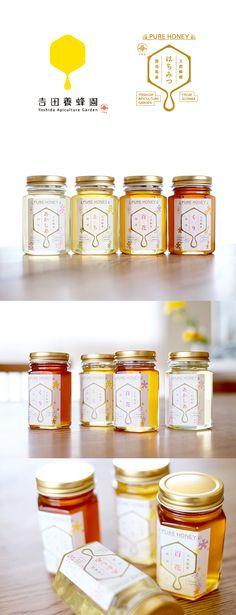 群馬県の吉田養蜂園さんの蜂蜜パッケージをリニューアルしました。 ラベルは和紙にCMY+特色の金で印刷しています。 使う花の違いでこんなにも蜂蜜...