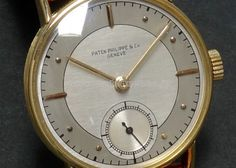 30's PATEK PHILIPPE 18KYG, Two-tone Art-Deco dial