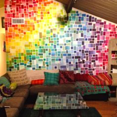 Paint chip wall - weekend project!