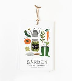 Plant, sow and grow in 2013. Rifle Paper Co. is known for their simple and sweet illustrations, and this garden-themed calendar is another hit that anyone with a green thumb would love to hang in their potting shed.