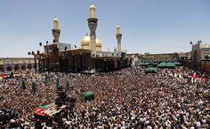 Shi'ite pilgrims gather at the Imam Moussa al-Kadhim shrine in Baghdad, Iraq.