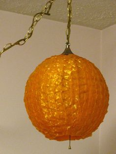 Vintage Swag Lamps for Sale | SALE Spaghetti Ribbon Lucite Swag Lamp Eames Era Orange on 12 Foot ...